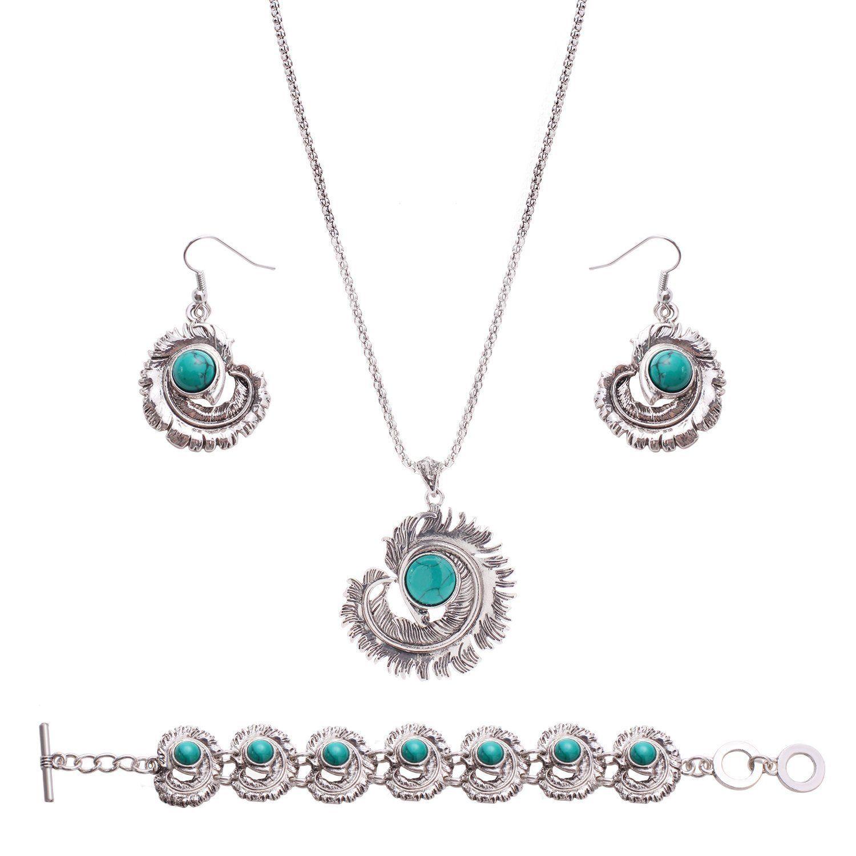 Women fashion birds style turquoise jewelry elegant bracelet