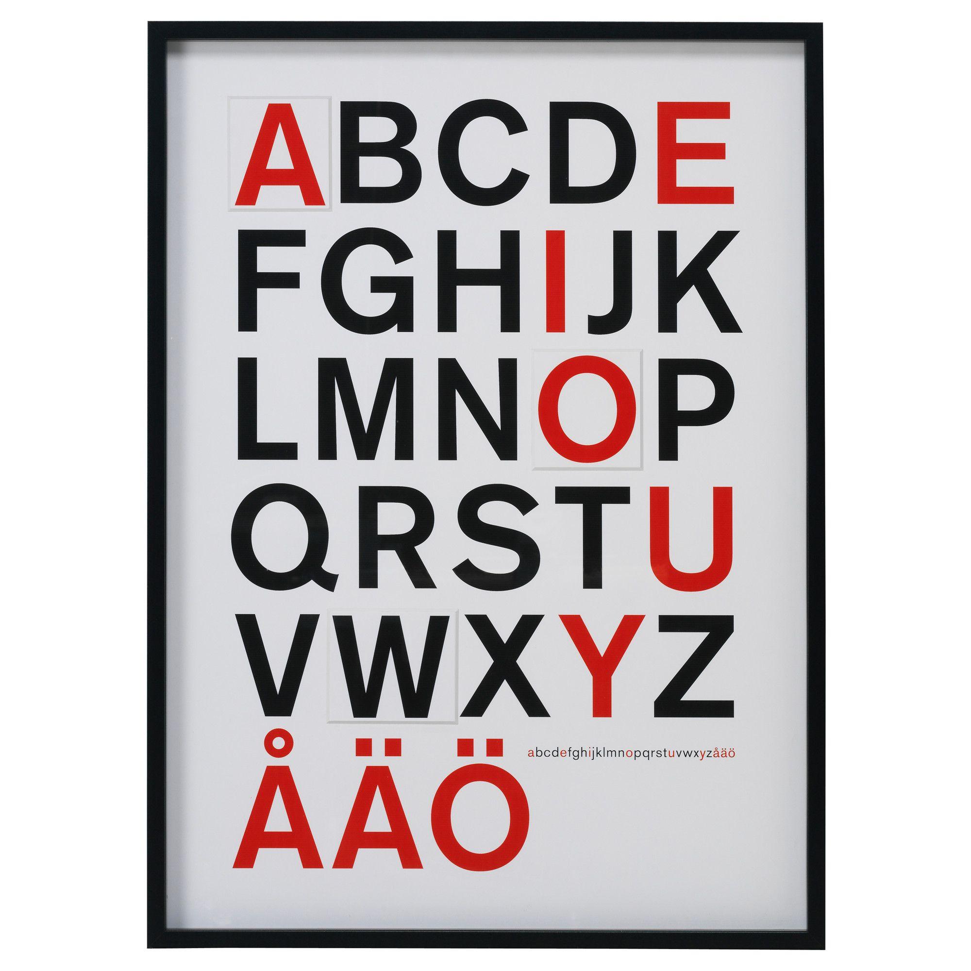 OLUNDA Bild mit Rahmen - IKEA | typo. | Pinterest | Ikea, Rahmen und ...