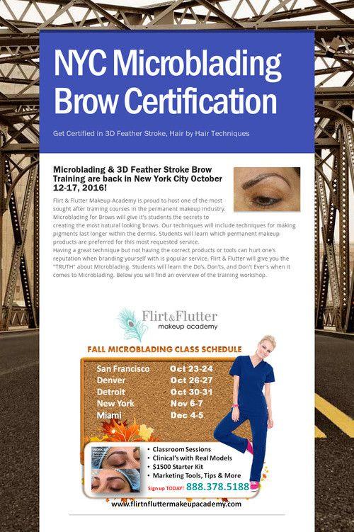 NYC Microblading Brow Certification | MICROBLADING TRAINING