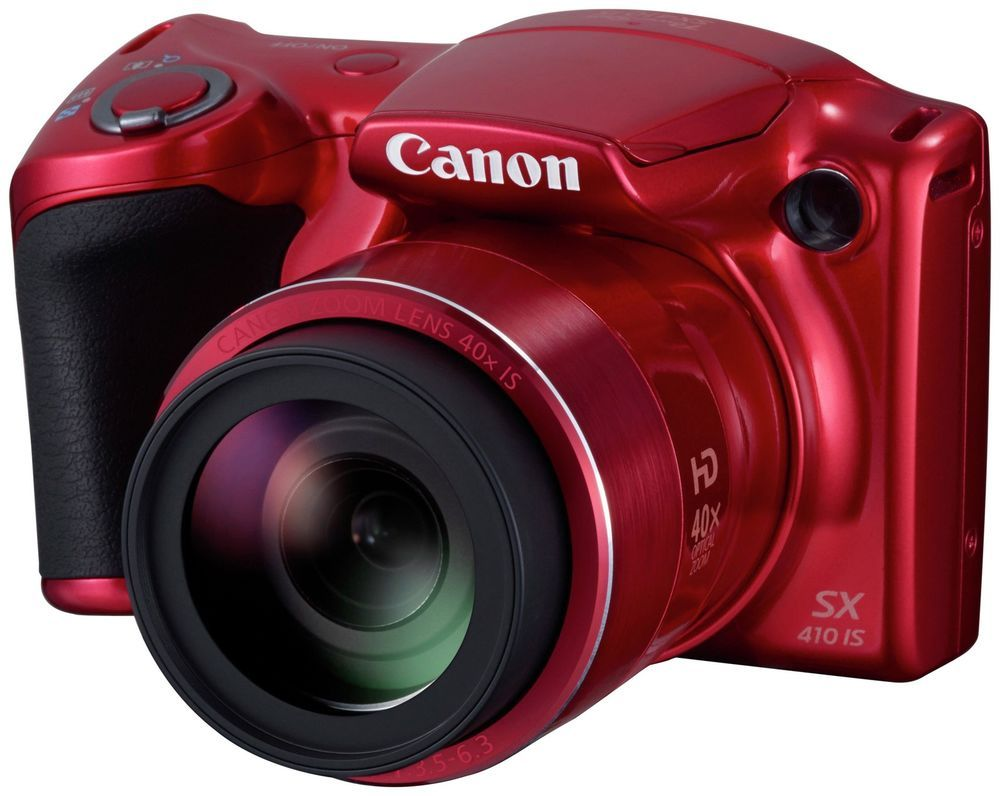 Canon Sx410 Powershot 20mp 40x Optical Zoom Bridge Camera Red Dicapac Wp S10 Waterproof Case For Slr Dslr Cameras