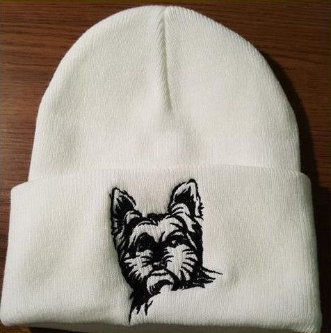 5c57978fa35 Hand Made Yorkshire Terrier Knit Hat
