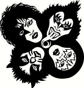 Pin By Zungarunguero On Silhouette Kiss Artwork Band Stickers Kiss Rock Bands