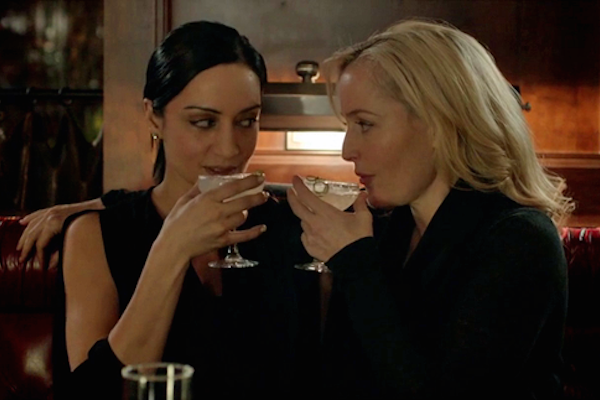 Archie Punjabi and Gillian Anderson in The Fall   T V