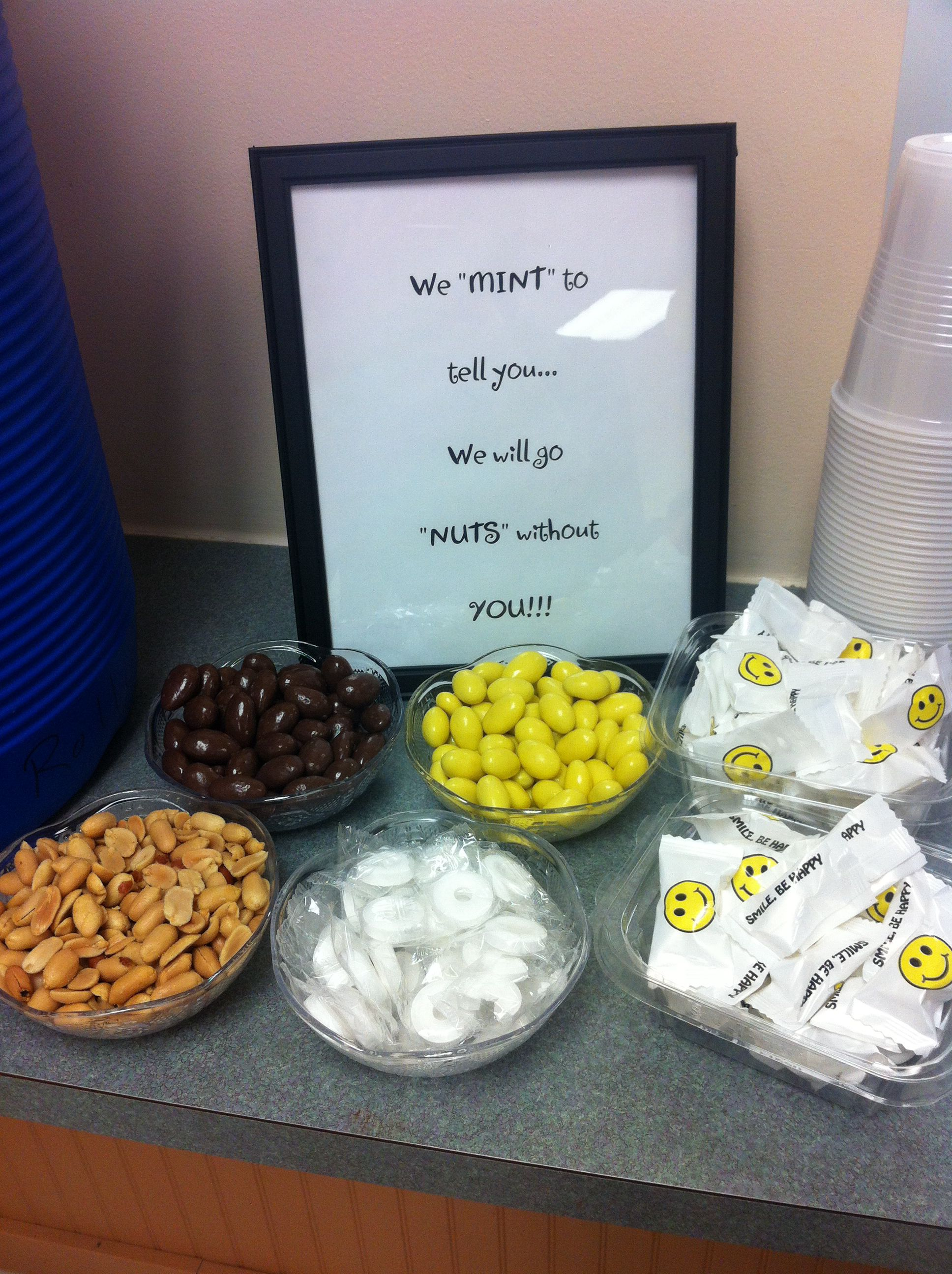 Farewell ideas for coworkers - Using This At Our Coworkers Going Away Potluck