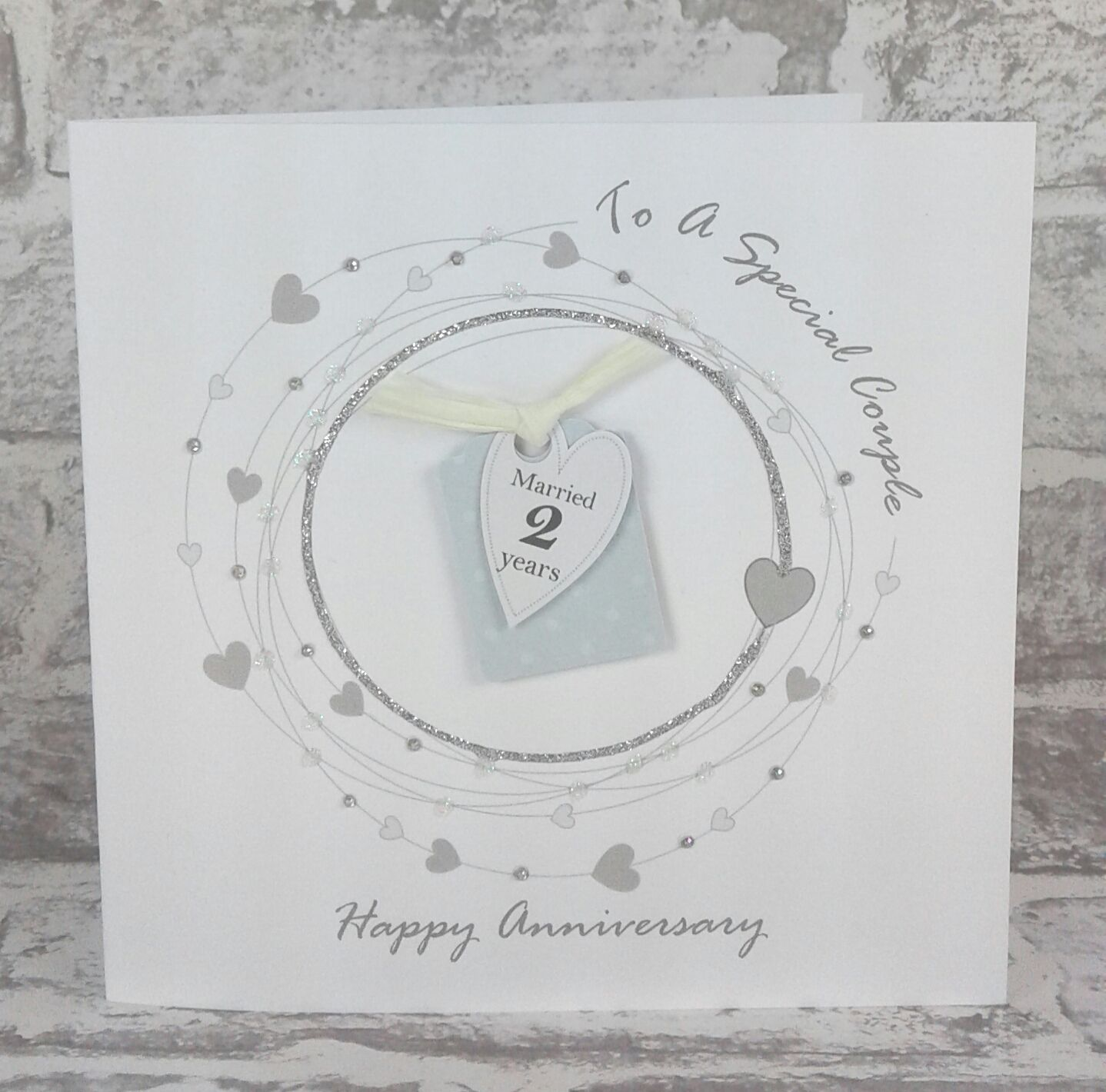NEW** 2nd Wedding Anniversary Card Cotton Anniversary