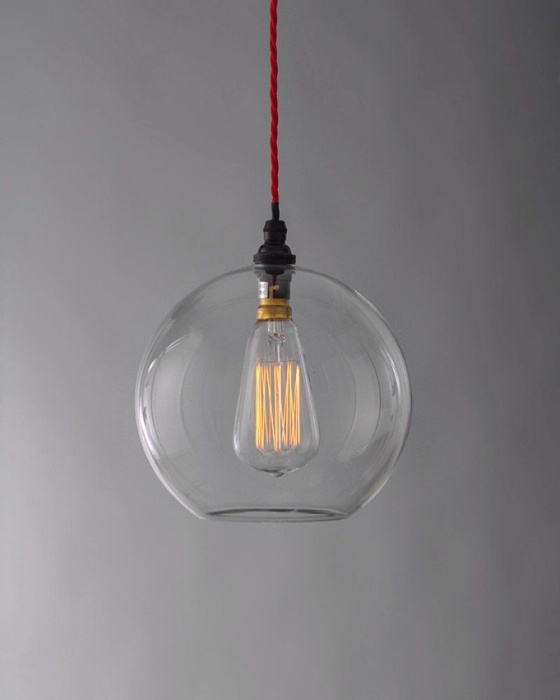 Commercial Lighting, Hereford Clear Glass Globe Pendant Light