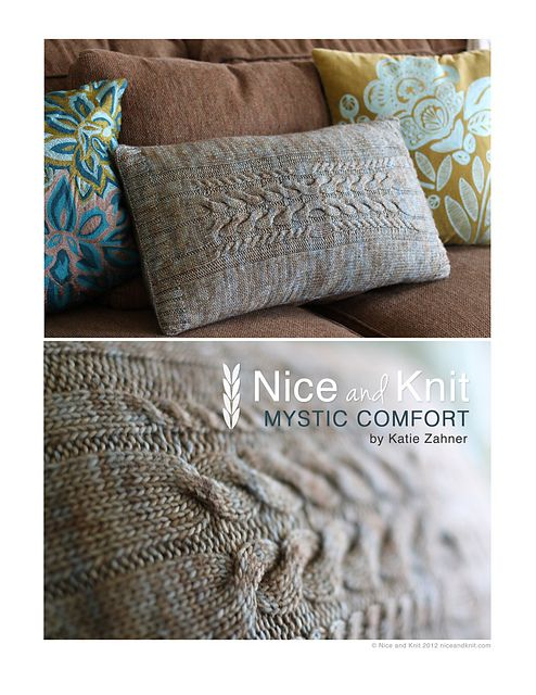 Mystic Comfort Pillow by Nice and Knit