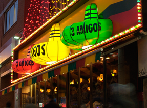 #3amigos #mexicanfood Steps away from our Apartments # ...