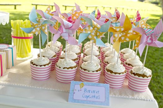 Pinwheel Cupcakes