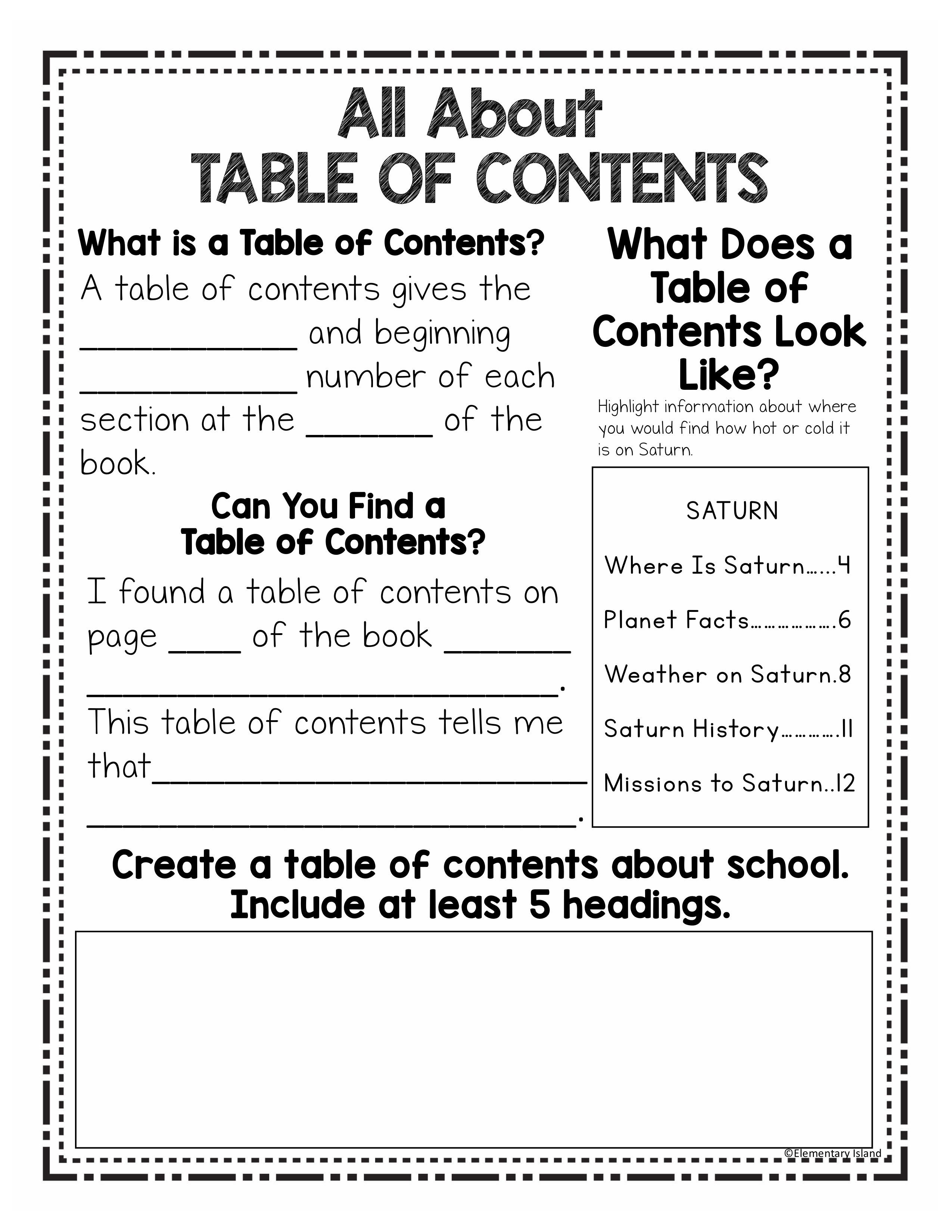 hight resolution of Nonfiction Text Features   Text features worksheet