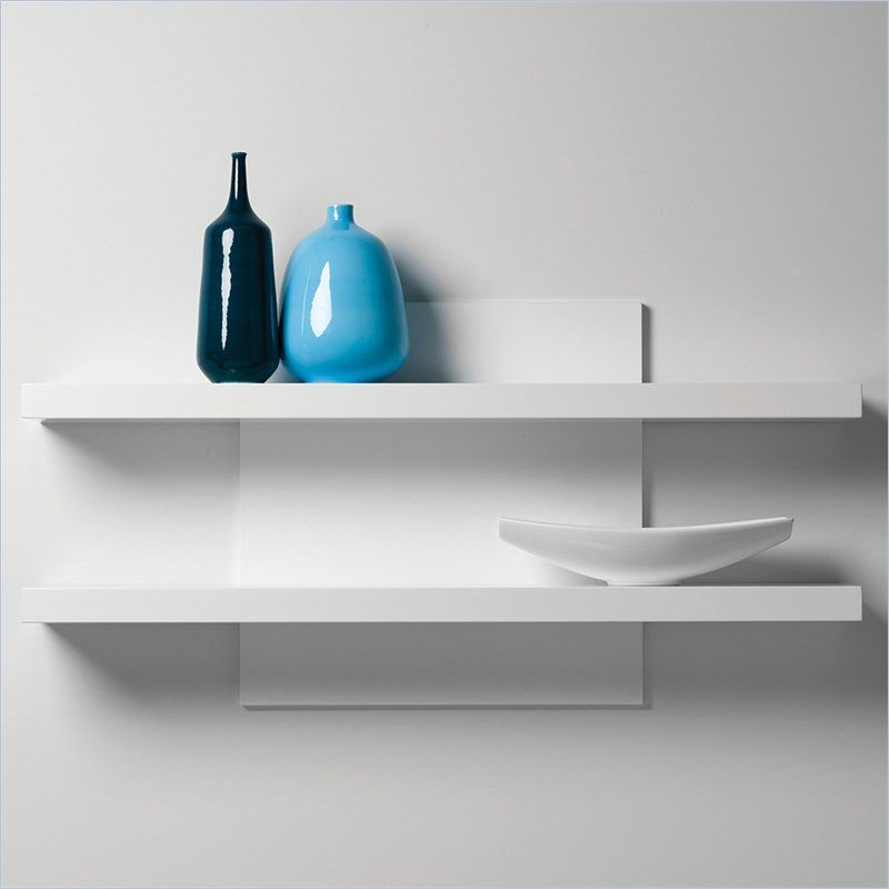 White Floating Wall Shelf mobital cargo wall shelf in high gloss white | high gloss, shelves