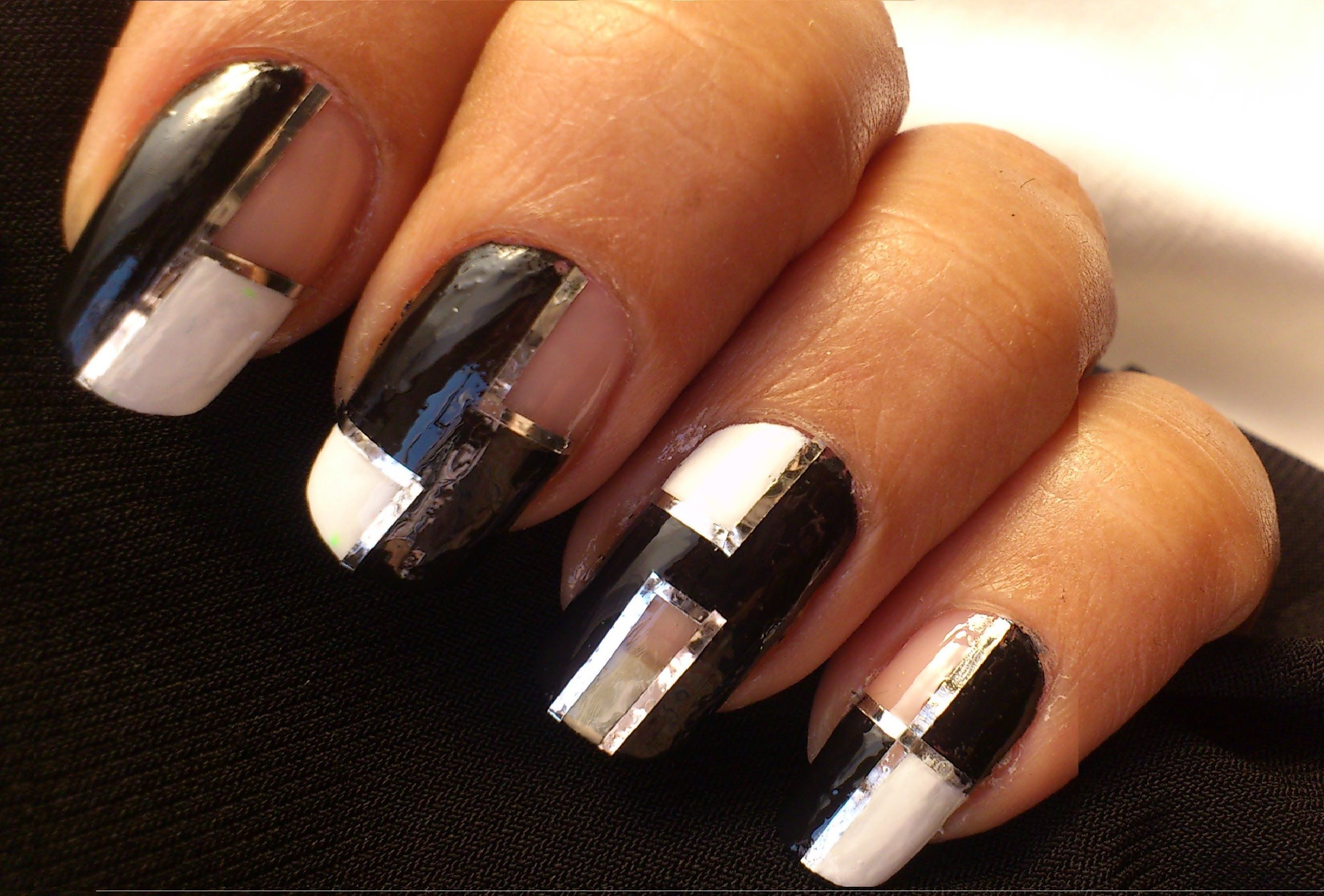 Striping tape nail art tutorial for beginners easy how to do nail ...