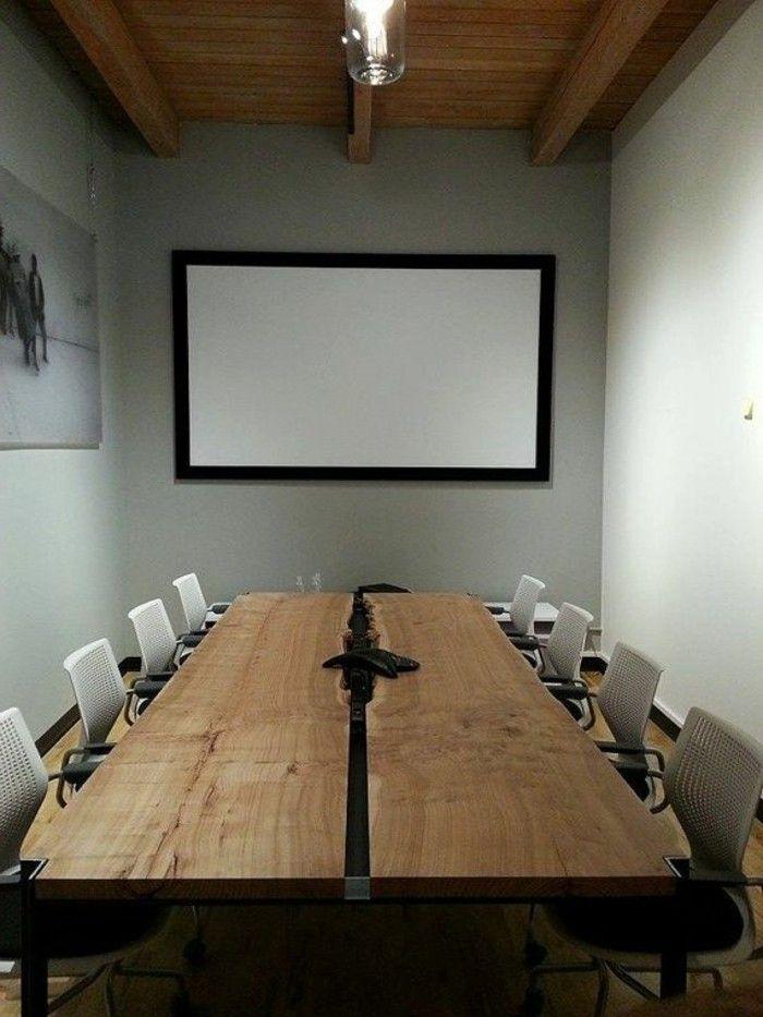 Büromöbel konferenztisch rustikal tischplatte | Halle Renovierung ...
