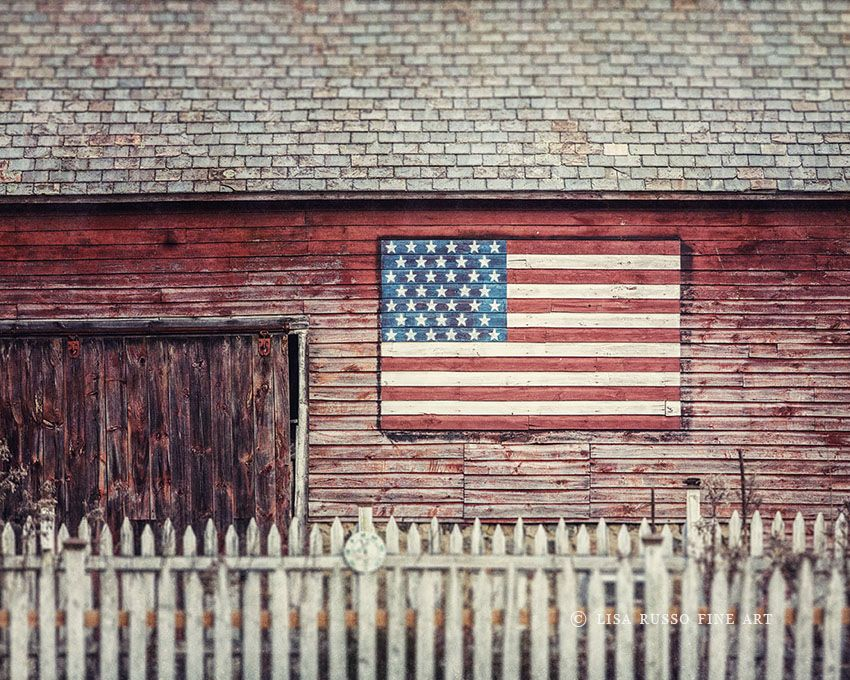 farmhouse decor, americana art, american photography, flag picture