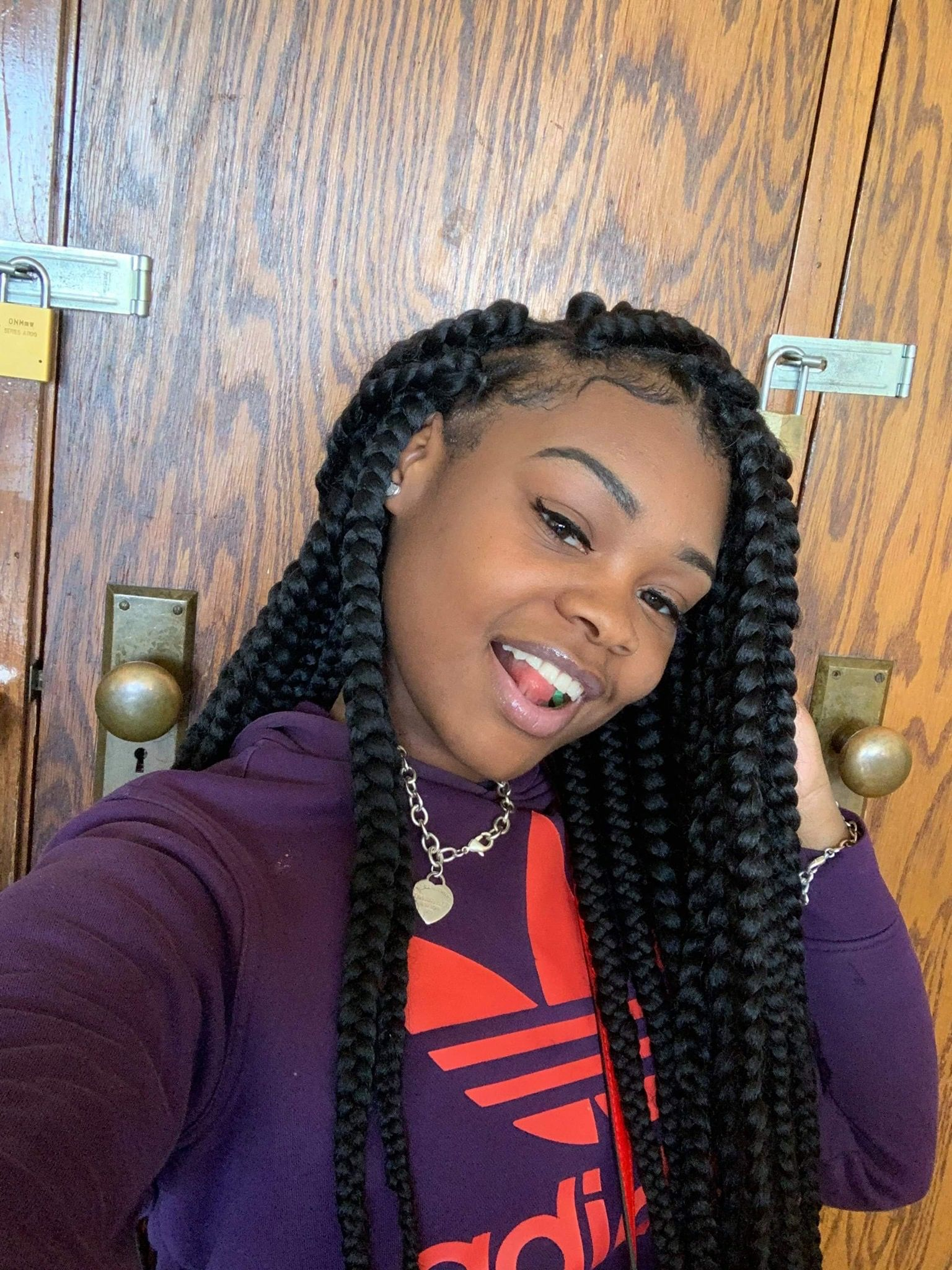 Thugpassionnn Girls Hairstyles Braids Box Braids Styling Cute Box Braids