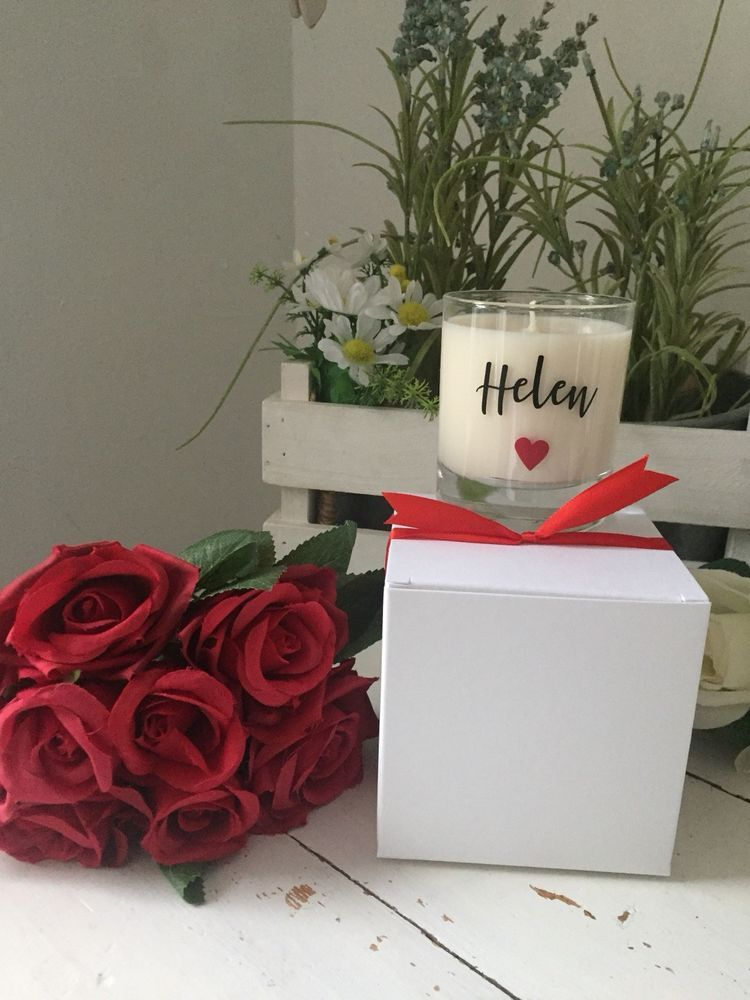 Details about personalised scented candle gift valentines