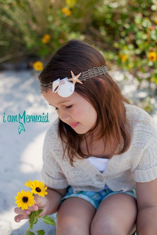 Sea shell headbands for girls