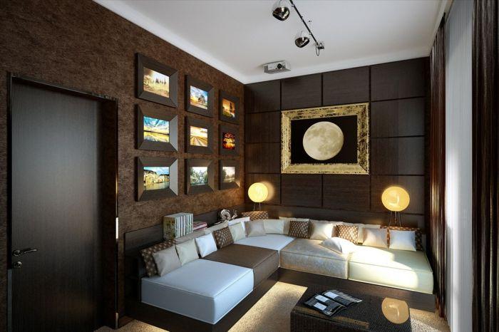ideen für wandgestaltung wohnzimmer schicke wandpaneele wandbilder