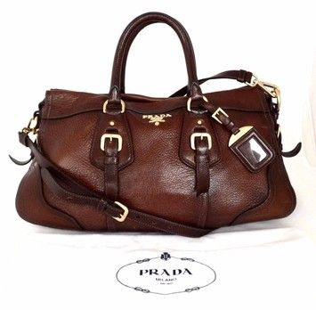 52f8c5e9bfc5 Save 45% on the Prada Cervo Antik Gradient Accent Deerskin Cacao Brown  Satchel! This satchel is a top 10 member favorite on Tradesy.