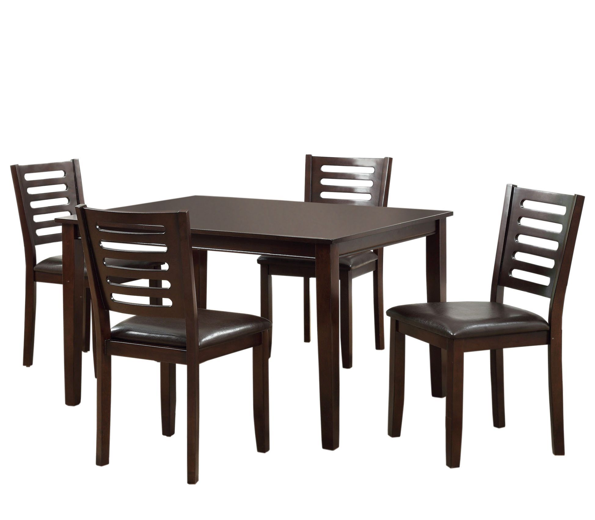 Furniture Of America Pentars Espresso 5 Piece Dining Table Set