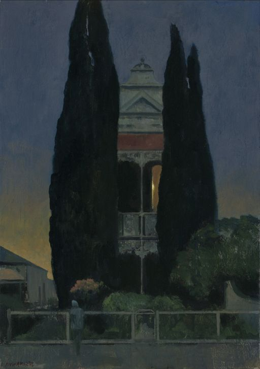 Rick Amor Study for A house at night, 2012, oil on canvas, 65.5 x 46 cm