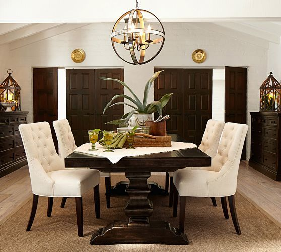 Banks Extending Dining Table Alfresco Brown Dining Room