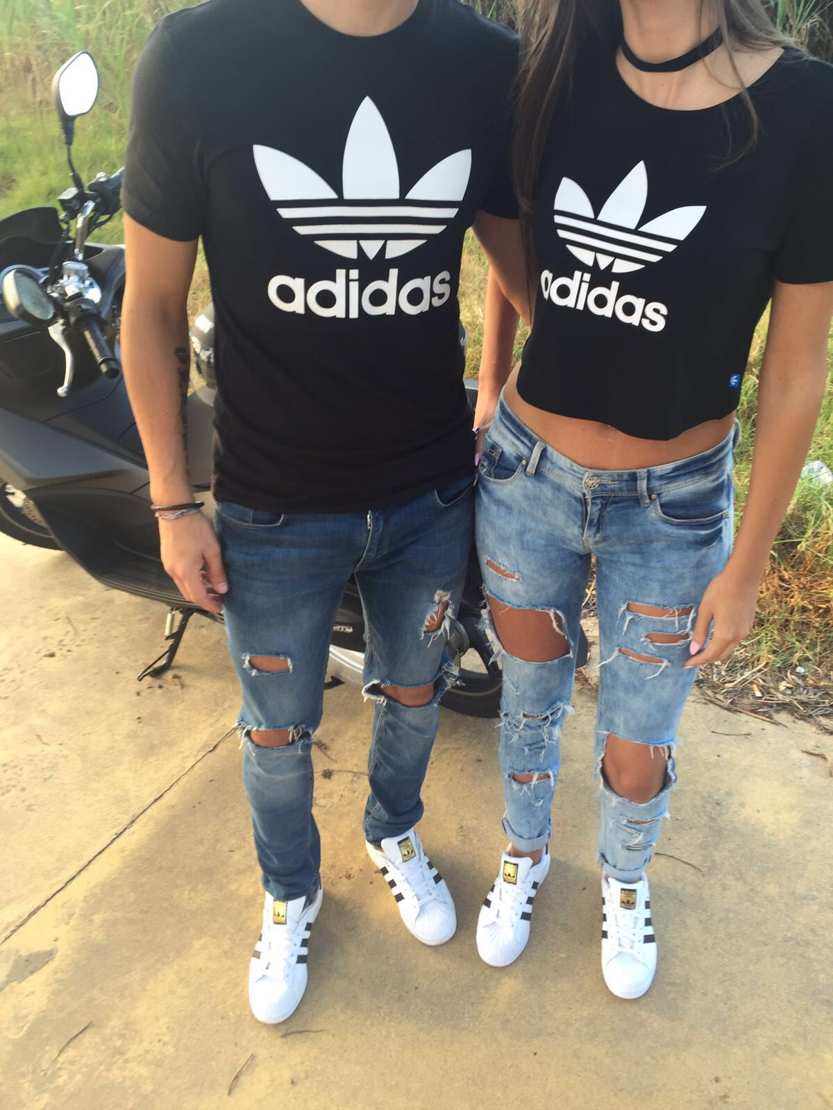 Adidas original | Matching couple outfits, Cute couple