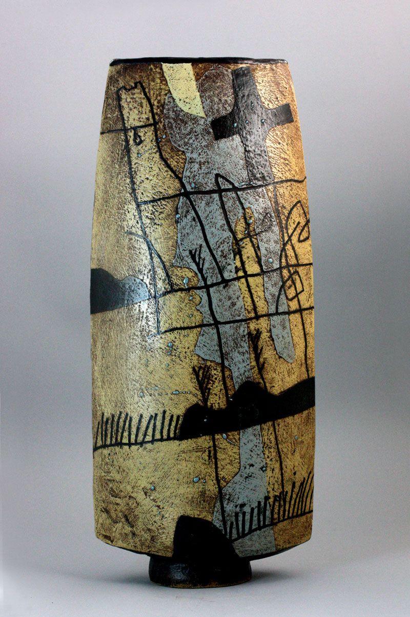 John Maltby   A monumental stoneware Vessel, circa 1990