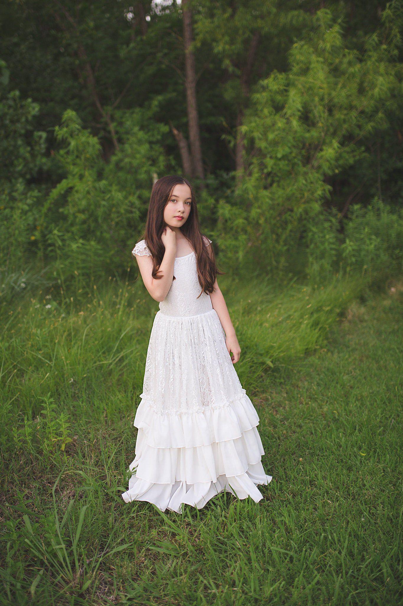 rustic flower girl dresses uk