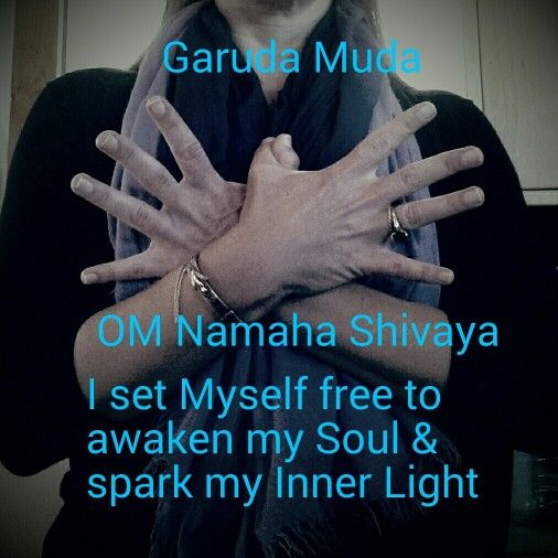 #Meditation : Set Yourself Free #Mudra : Garuda. Spread your wings and fly…