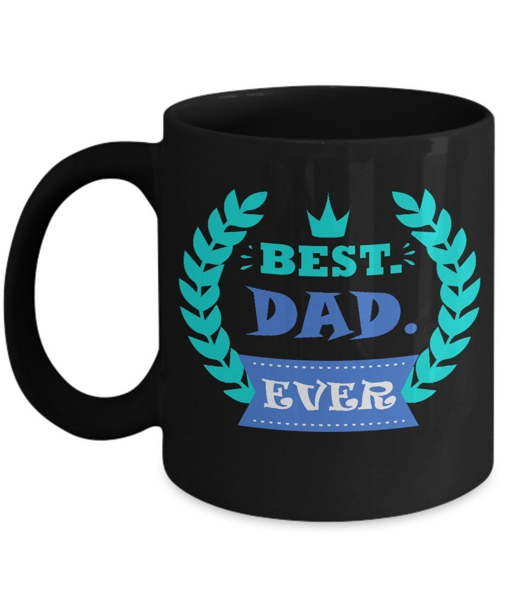 Black best dad ever mug father day gifts