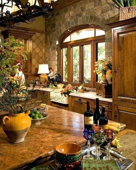 Italian Kitchen Decor: Tuscan Italian Kitchen Decor Italian Tuscan Kitchen Design