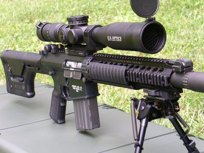 The SR 25 Stoner Rifle Is A Semi Automatic Sniper