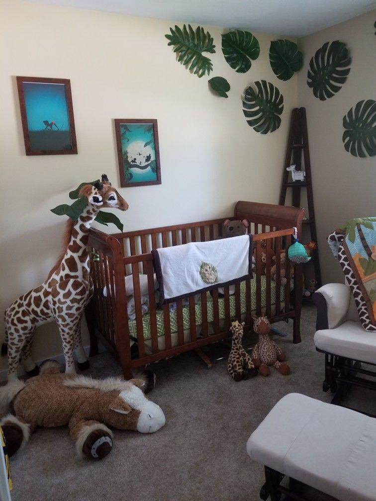 Gender neutral Disney Jungle themed nursery | Jungle theme ...