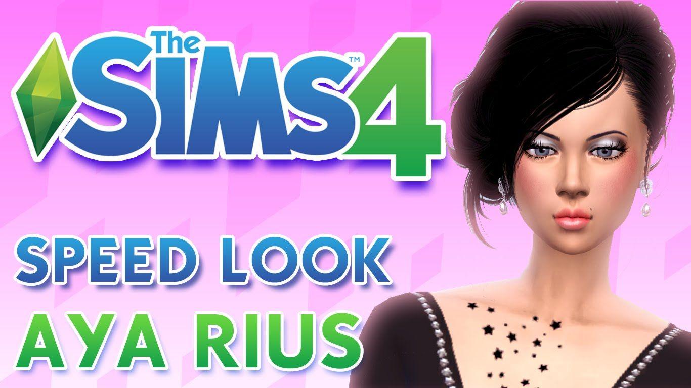 Los Sims 4 SPEED LOOK ♥ AYA RIUS ♥ ♥tesasims♥