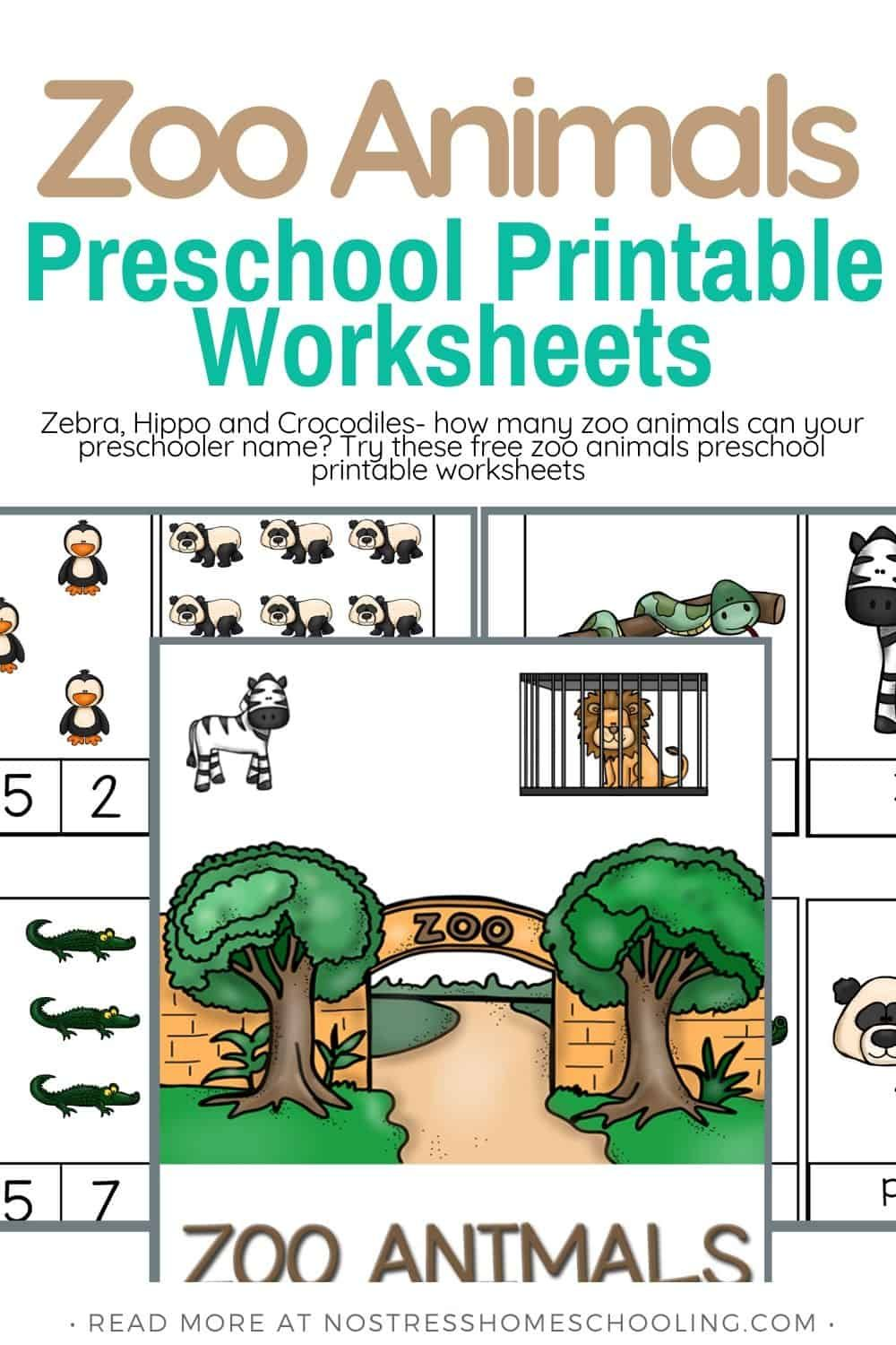 Free Printable Zoo Animals Worksheets in 2020 Printable