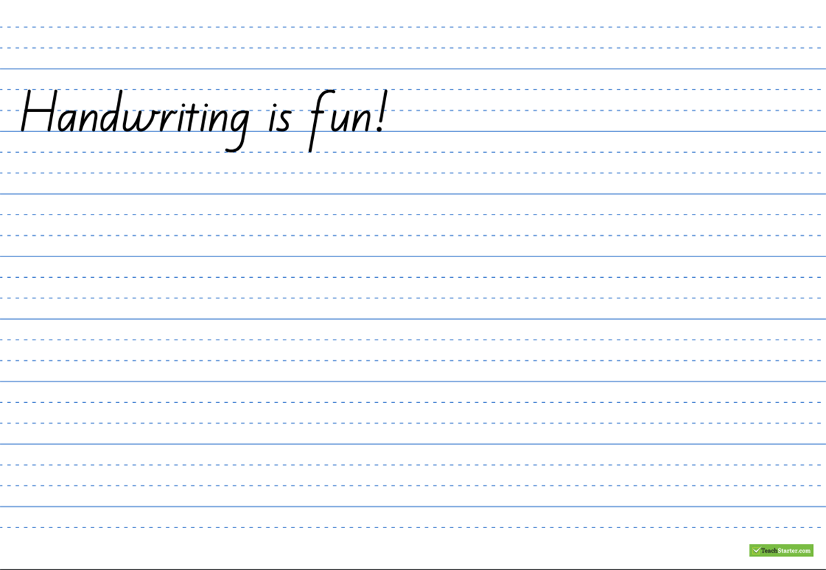 Create Your Own Handwriting Sheets Easily