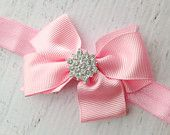 Pink Bow Headband, Baby Girl Bow Headband, Pink Baby Headband, Baby Headbands, Bow Headband