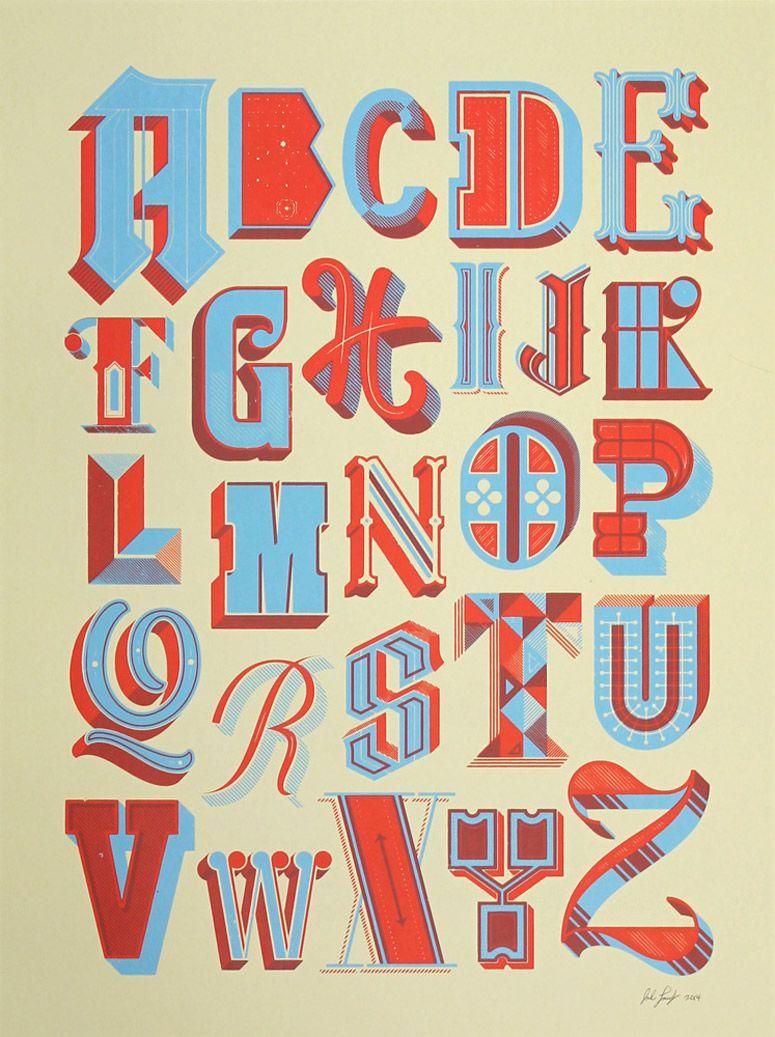 Drop Cap Alphabet Poster