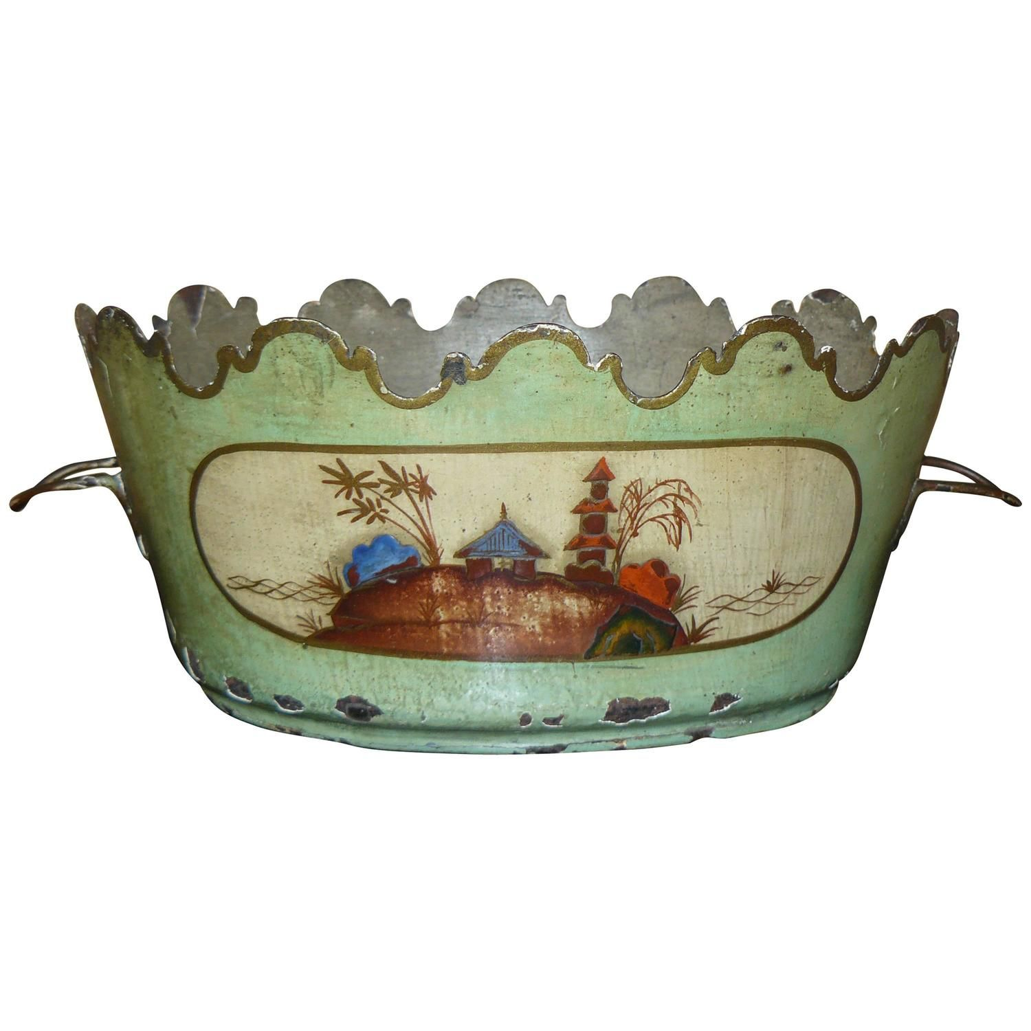 """18th Century French Tole Peinte """"Au Chinois"""" From a"""