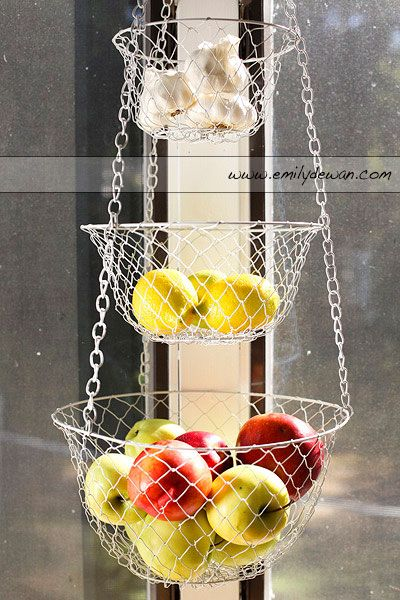Ive Decided This Is Replacing The Fruit Bowl Where All My Fruits And  Veggies Get Hidden · Hanging Fruit BasketsBasket ...