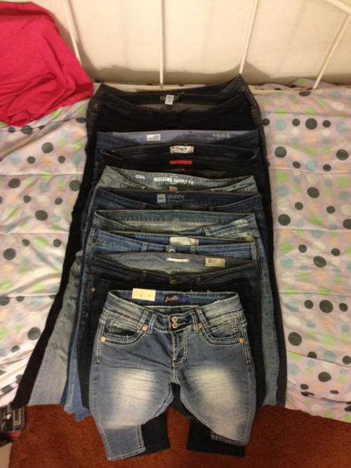 Instead of using a scale, how about using jeans.  This gal went from a size 20 to a size 9.