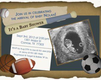 sports theme baby shower sports theme baby shower invitations 5