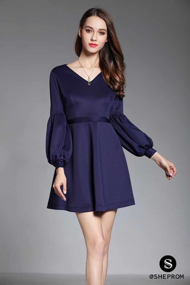 Only $68, Navy Blue Bubble Sleeve Short Dress #DK373 at #SheProm. SheProm is an online store with thousands of dresses, range from Homecoming,Party,Wedding Guest,Blue,Navy,Short Dresses,Long Sleeve Dresses and so on. Not only selling formal dresses, more and more trendy dress styles will be updated daily to our store. With low price and high quality guaranteed, you will definitely like shopping from us. Shop now to get $5 off! #navyblueshortdress Only $68, Navy Blue Bubble Sleeve Short Dress #DK #navyblueshortdress