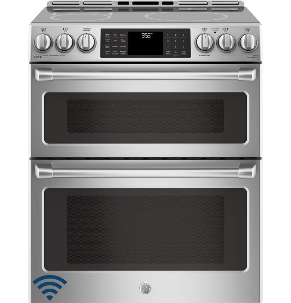 Slide In Stainless Steel 6 7 Cf Double Oven Electric Convection Range