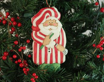Carved impish santa ornament woodcarving by wasatchwoodcarver