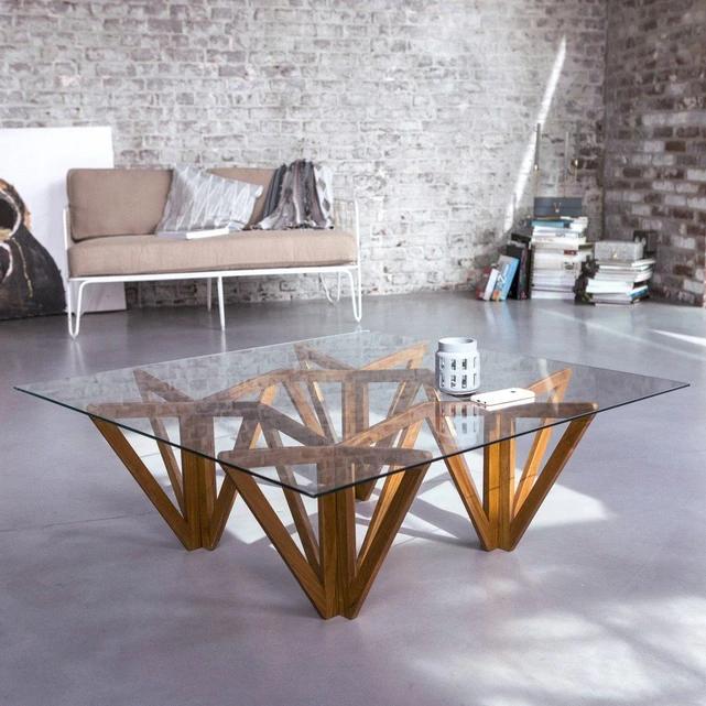 Table Basse En Teck 100x100 Mona Table Basse Teck Table Basse Table Basse Bois