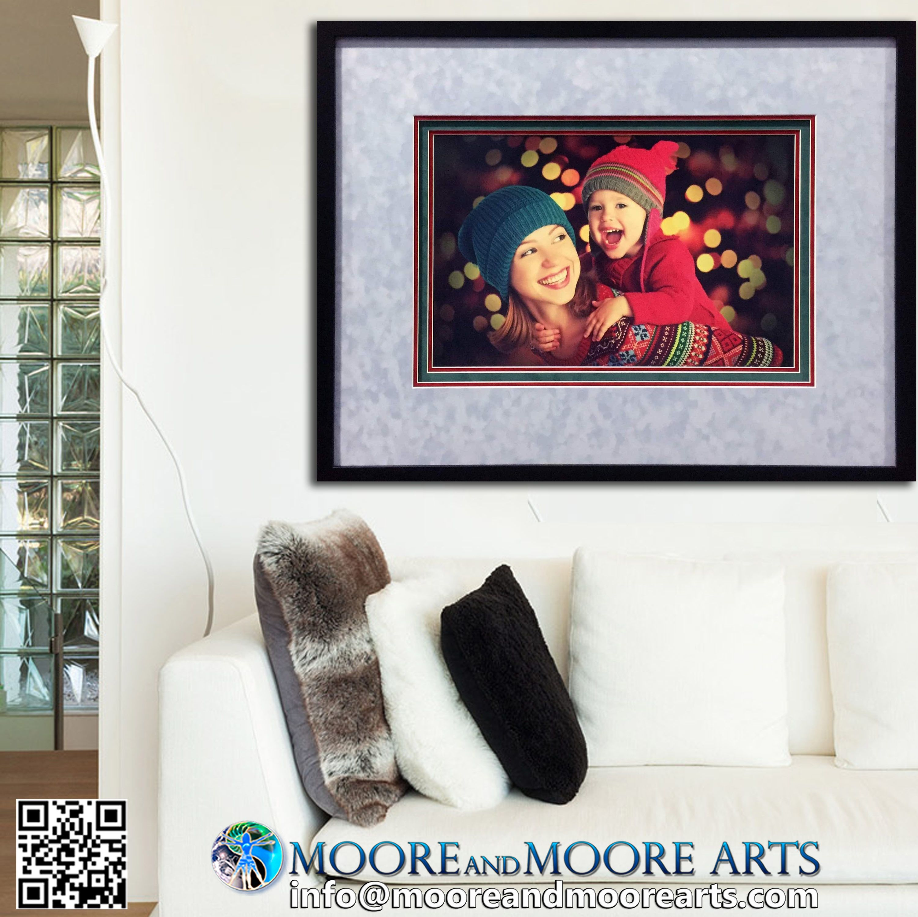 Framing Family Memories From The Winter Holidays In Our Moorman Fabric Matting Enhancing Preserving And Printing Your Cell Custom Framing Frame Gallery Wall