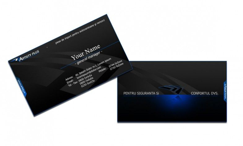 Amazing black business cards design with blue 3d effects available amazing black business cards design with blue 3d effects available for free download in psd format reheart Images