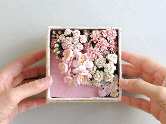 Rosa carta fiore Gift Set  set mini carta  fatta di SQUISHnCHIPS
